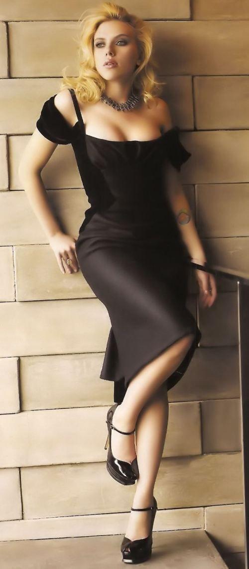 Scarlett Johansson, Dress, Legs, High Hills, Shoes, Woman ...