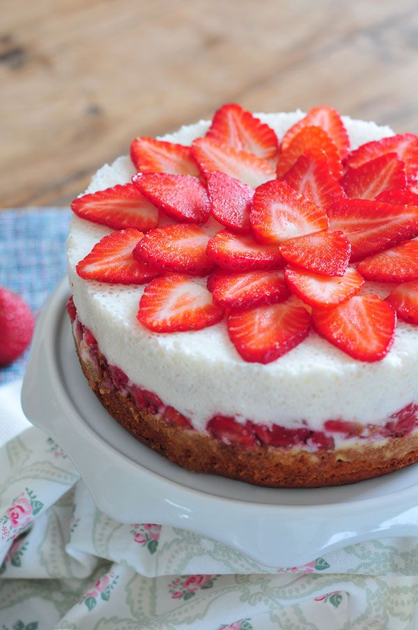 Erdbeer-Joghurt-Kuchen milchfrei & fructosearm