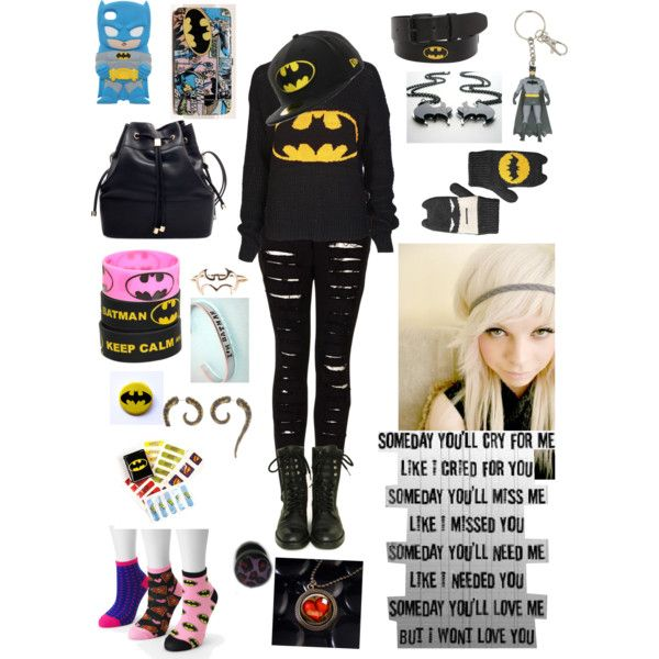 batman outfits for teens | fashion batman style batman outfit for girlsss created by anita hyseni ...