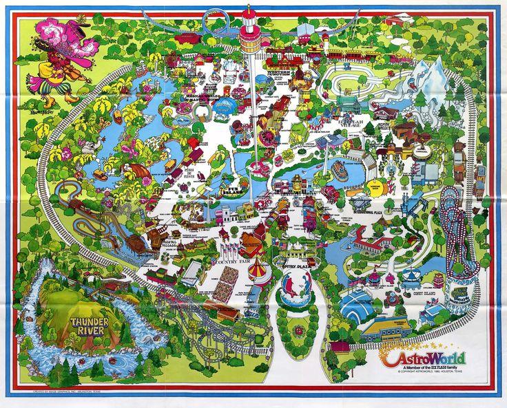 AstroWorld Houston TX Fun Places Ive Been Pinterest - Houston zoo map