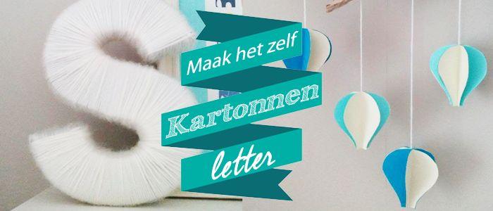 Maak het zelf: Kartonnen letter