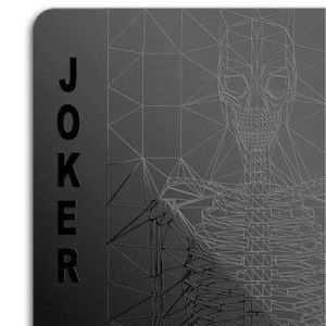 Black Deck of Playing Cards These cards are cool. Interesting and  unique images for the high cards and especially the joker. Really fun under black-lights. http://awsomegadgetsandtoysforgirlsandboys.com/awesome-gadgets-for-guys/ Awesome Gadgets For Guys: Black Deck of Playing Cards
