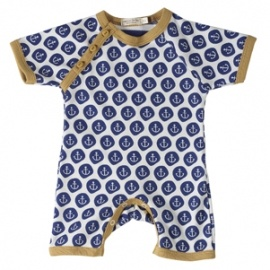 Romper & Sunhat Set: by organics for kids, lovely bold Anchor Print, at Herbert and Stella.