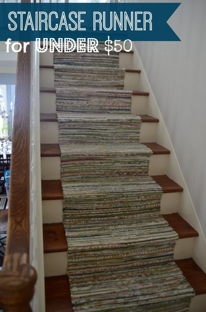 Brilliant ideas rugs as stair runner with the best tutorial I've ever seen on the subject!