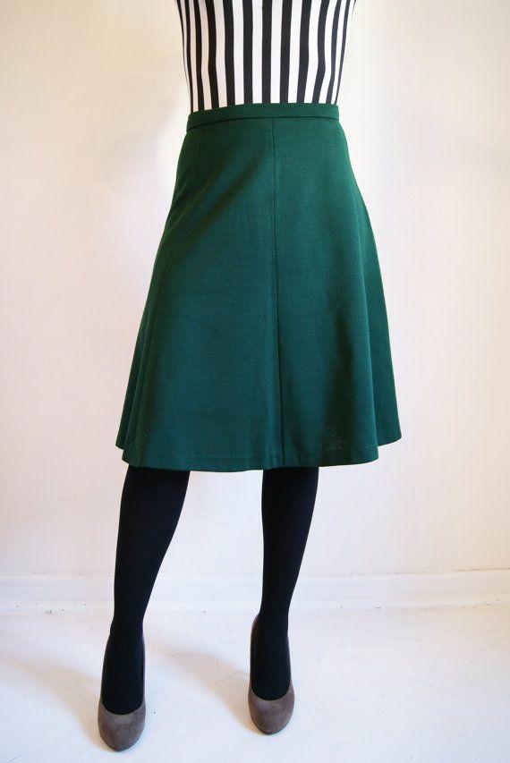 Green A Line Skirt