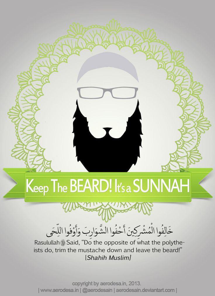 """""""Selisilah orang-orang musyrik. Potong pendeklah kumis dan biarkanlah jenggot."""" (HR. Muslim no. 625)"""