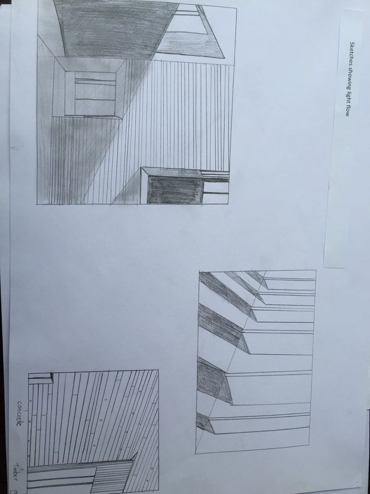 Assignment 2: the Capture  Drawings showing light flow