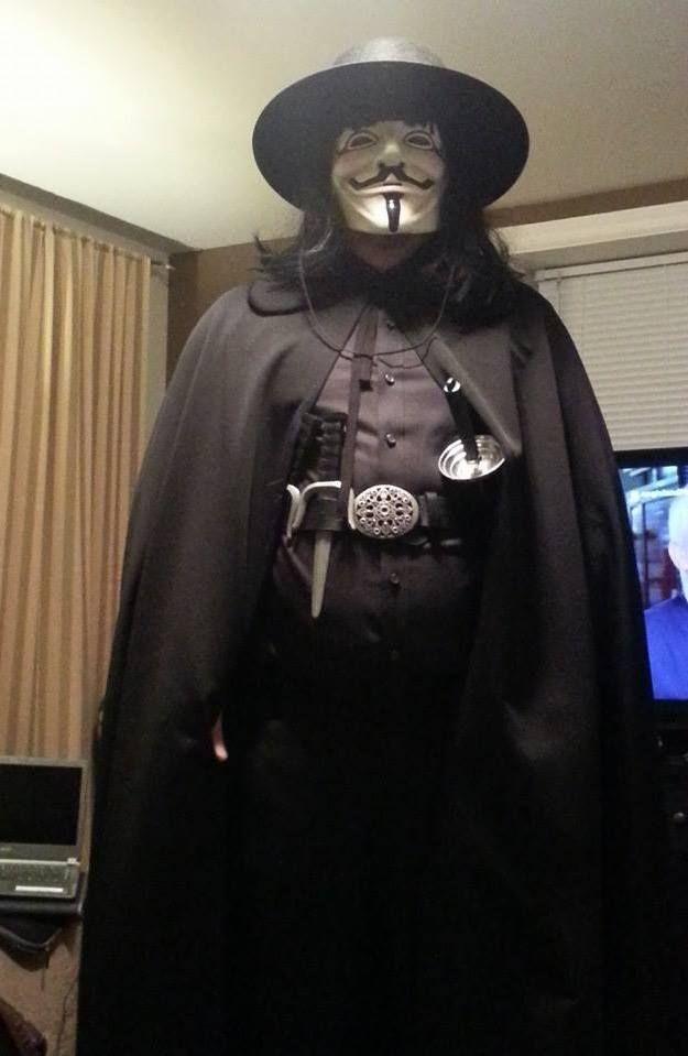 V from V for Vendetta cosplay