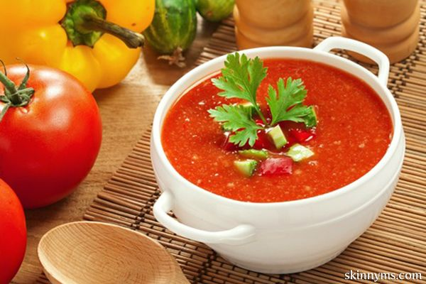 This quick and easy no-cook easy gazpacho recipe shows off the vibrant flavors of summer tomatoes.
