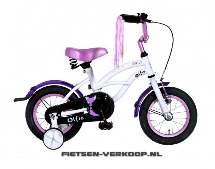 Meisjesfiets Fayefox Wit 12 Inch | bestel gemakkelijk online op Fietsen-verkoop.nl