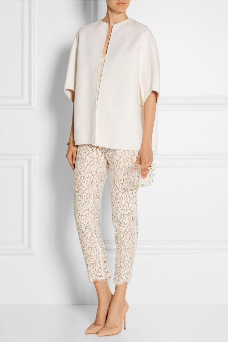 Michael Kors | Cotton-blend guipure lace pants | NET-A-PORTER.COM- Love it !