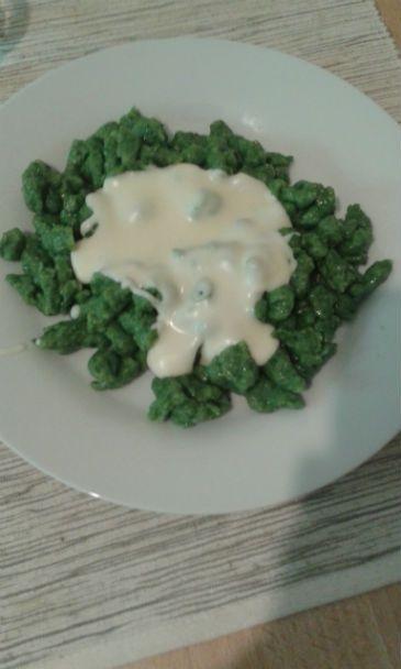 Špenátové halušky na 2 spôsoby (fotorecept)