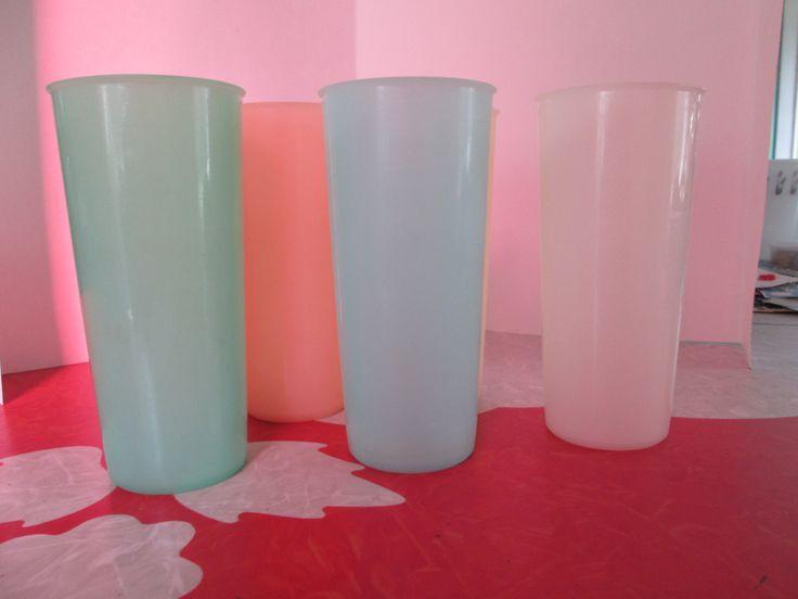 Vintage Tall Tupperware Cups by VintageVeneers on Etsy