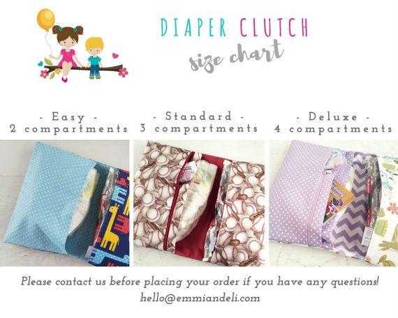 Floral Diaper Bag Girl  Purple Diaper Clutch Bag  Diaper