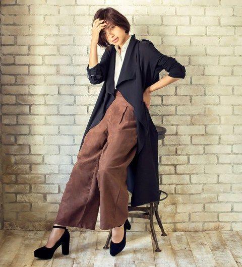 トレンドのコートはガウチョやスカーチョとの相性が抜群の「テロンチ」。コートのトレンドレディース一覧♪人気・おすすめのコーデ♡