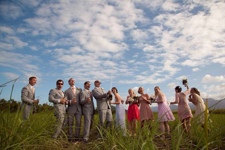 A Fun bridal party in the field x