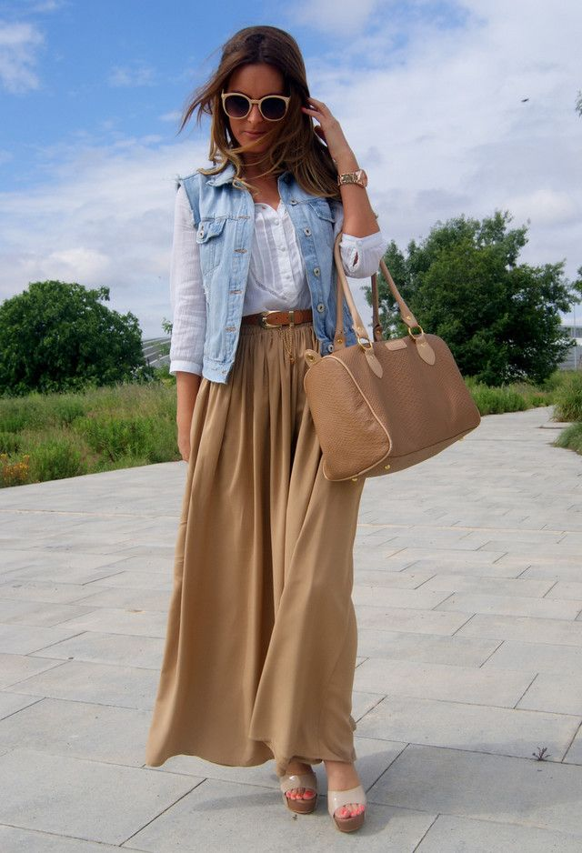 Tan Maxi Skirt | Fashion | Pinterest | Clothes Fashion And Teaching Outfits