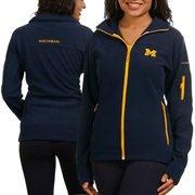 Columbia Michigan Wolverines Ladies Navy Blue Give & Go Full Zip Fleece Jacket