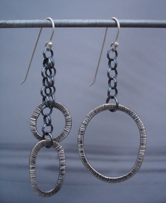 Solar System Asymmetrical Earrings by RutiglianoDesign on Etsy