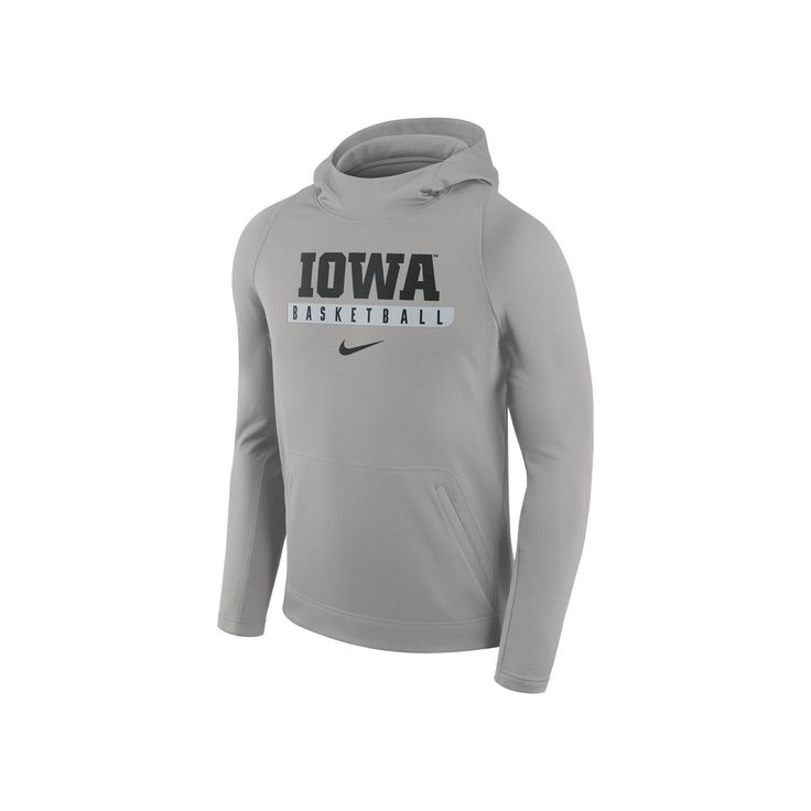 Men's Nike Iowa Hawkeyes Basketball Fleece Hoodie, Size: Medium, Grey Other