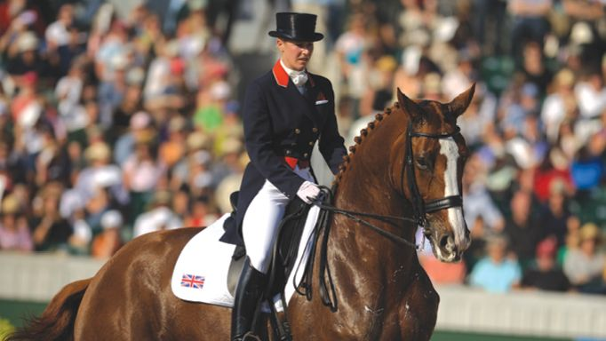 British Olympic dressage medallist Laura Tomlinson counts her blessings, itches to get back in the arena – and yearns for a good night's sleep....