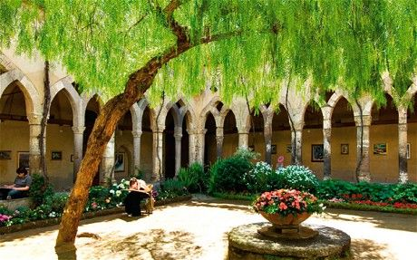 The Cloister, Sorrento, The Neopolitan Rivera. I WAS HERE! there was a destination wedding in the courtyard and art in the walkway :)