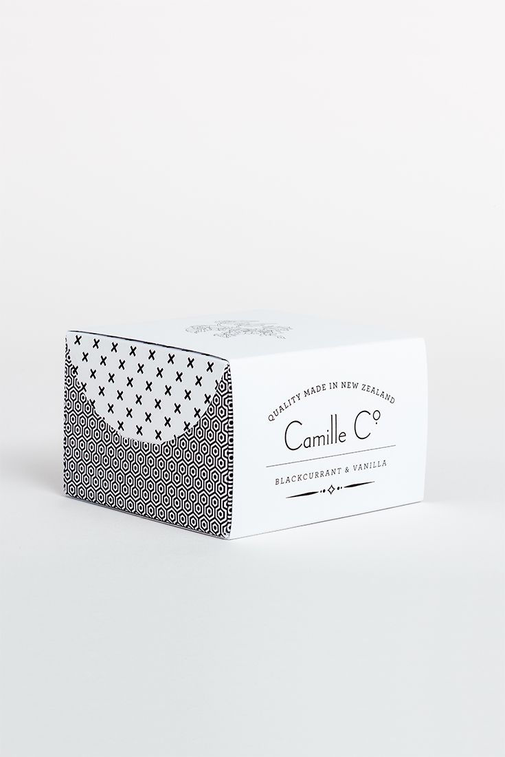 Blackcurrant & Vanilla Soap Packaging Camille Co. Luxury Soaps and Soy Candles