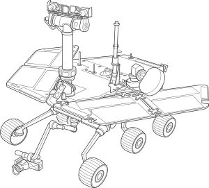 Mars Rover Coloring Pages