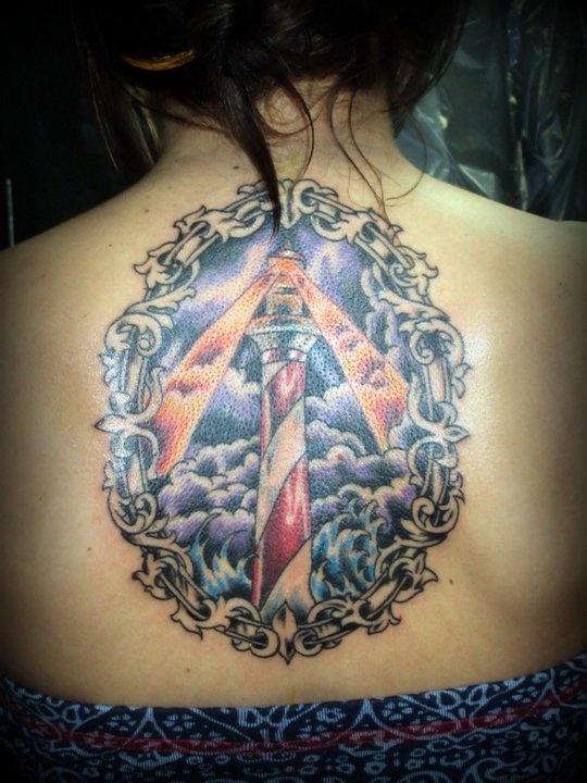 Lighthouse tattoo (Aaron Creamer Decorative Injections