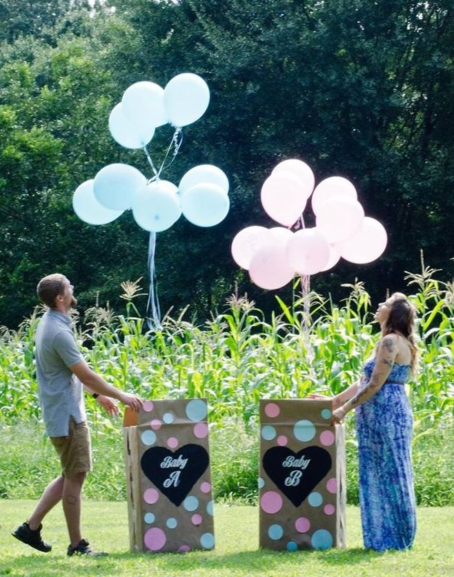 Our boy/girl twin gender reveal!!!