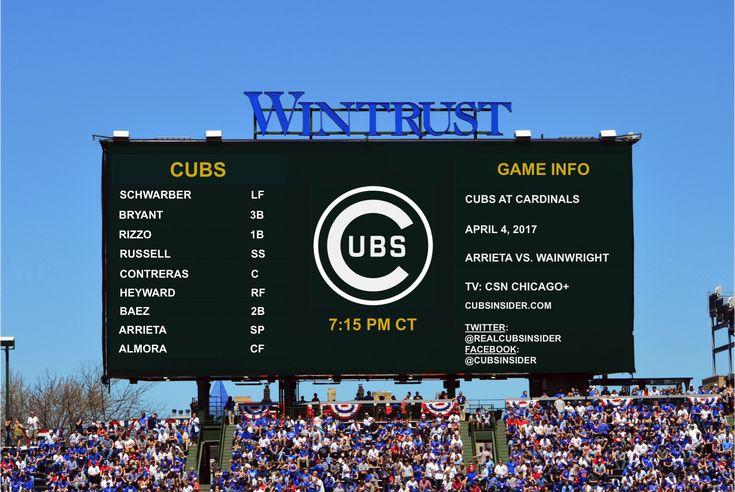 Chicago Cubs Lineup: Schwarbryzzo at Top, Almora in Center, Arrieta Dealing, No Zo