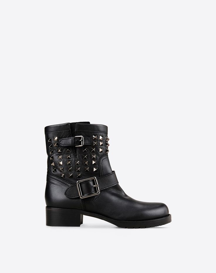 valentino noir rockstud shoes