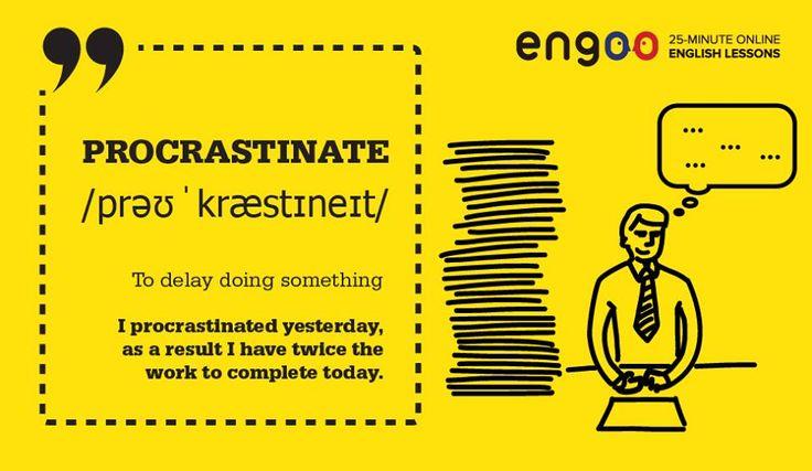 Сегодня слово дня - procrastination (прокрастинация). Слово появилось в 1977 году и означает постоянное откладывание дел на потом.