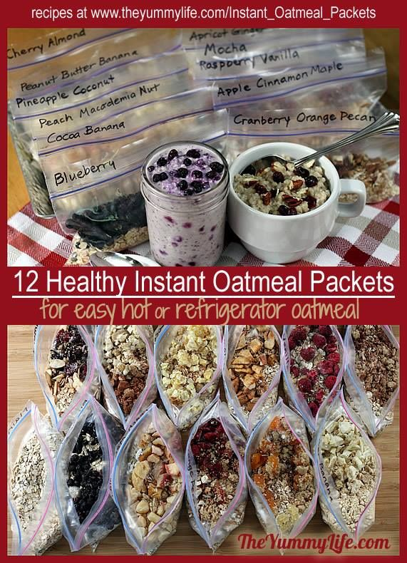 Instructions for dry, make-ahead packets of oatmeal. Great ideas even for regular oatmeal!