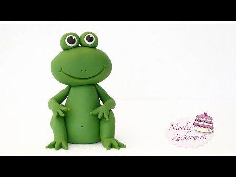 DIY - FROSCH aus Fondant modellieren   Cake Topper   How to make a Frog