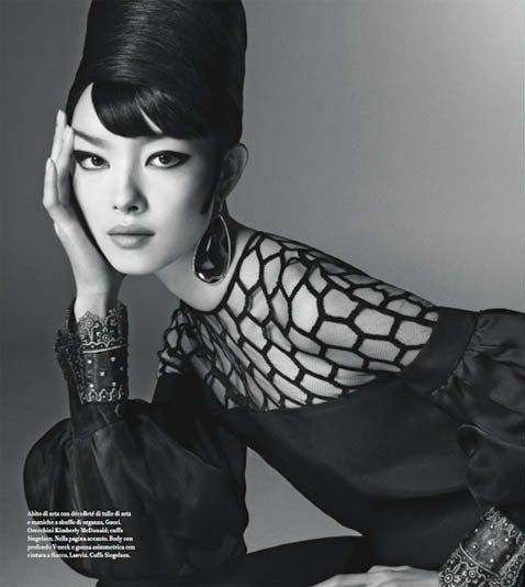 Fei Fei Sun by Steven Meisel for Vogue Italia January 2013