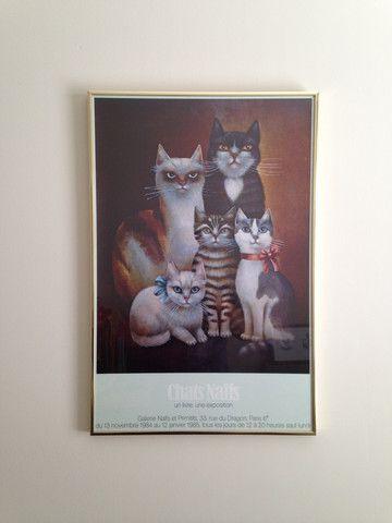 French Cat Exhibit Poster – ThingsIBuyForYouToThenBuy