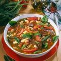 Pasta bean soup with smoked with ribs - Tésztás bableves füstölt oldalassal - Lajos Mari konyhája