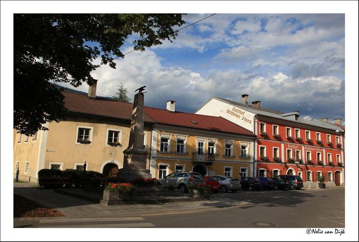 Zomaar......een straat in het Oostenrijkse stadje Lienz. stad