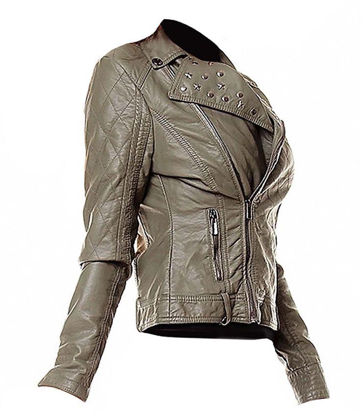 Sublevel Damen Jacke Kunstlederjacke Bikerjacke: Amazon.de: Sport & Freizeit