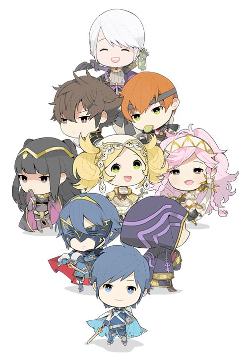 Fire Emblem: Awakening characters by Tomashiba. Aww! They all look adorable! Especially Henry!