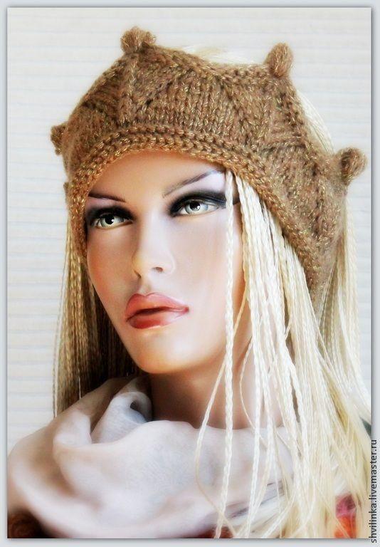 """Купить """"Моя королева"""" повязка на голову - хаки, повязка, повязка на голову, повязка для волос"""
