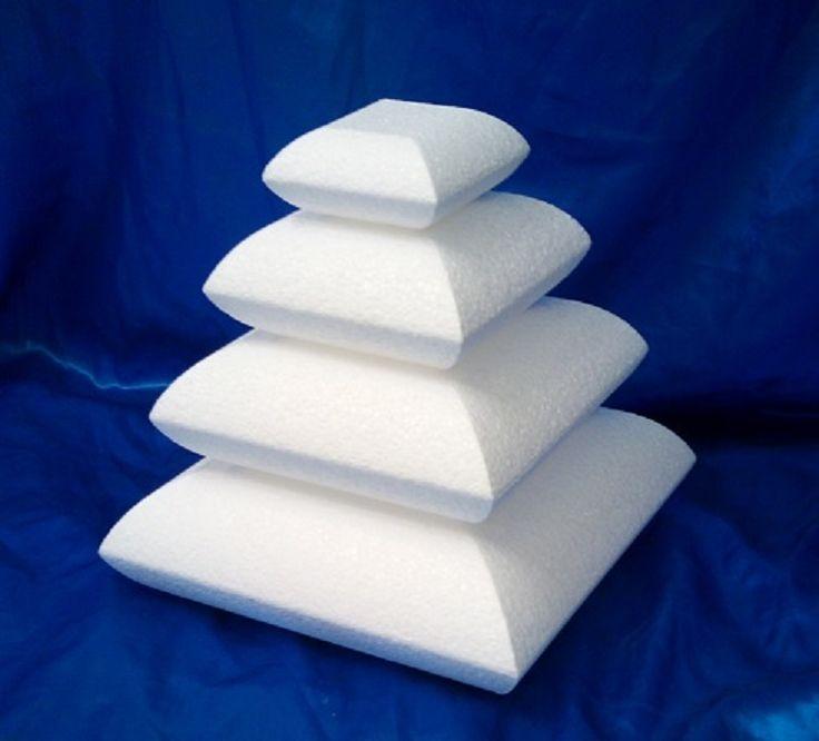 Pillow or cushion shaped cake dummies