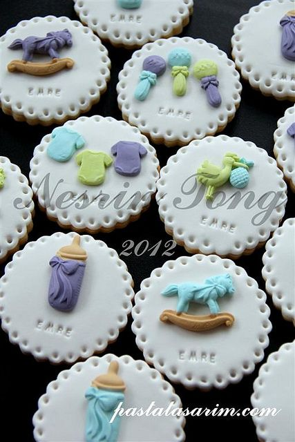 baby cookies - emre (Medium) by CAKE BY NESRİN TONG, via Flickr