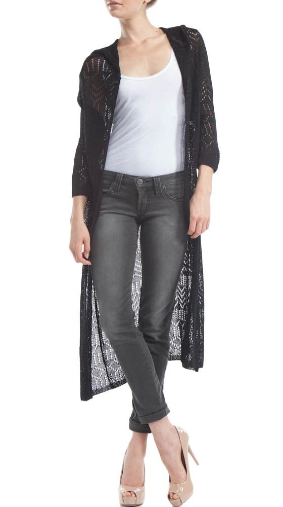 Black Long Sweater by Bette Paige