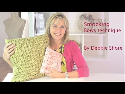 Smocking, how to create the Bows design, by Debbie Shore - YouTube
