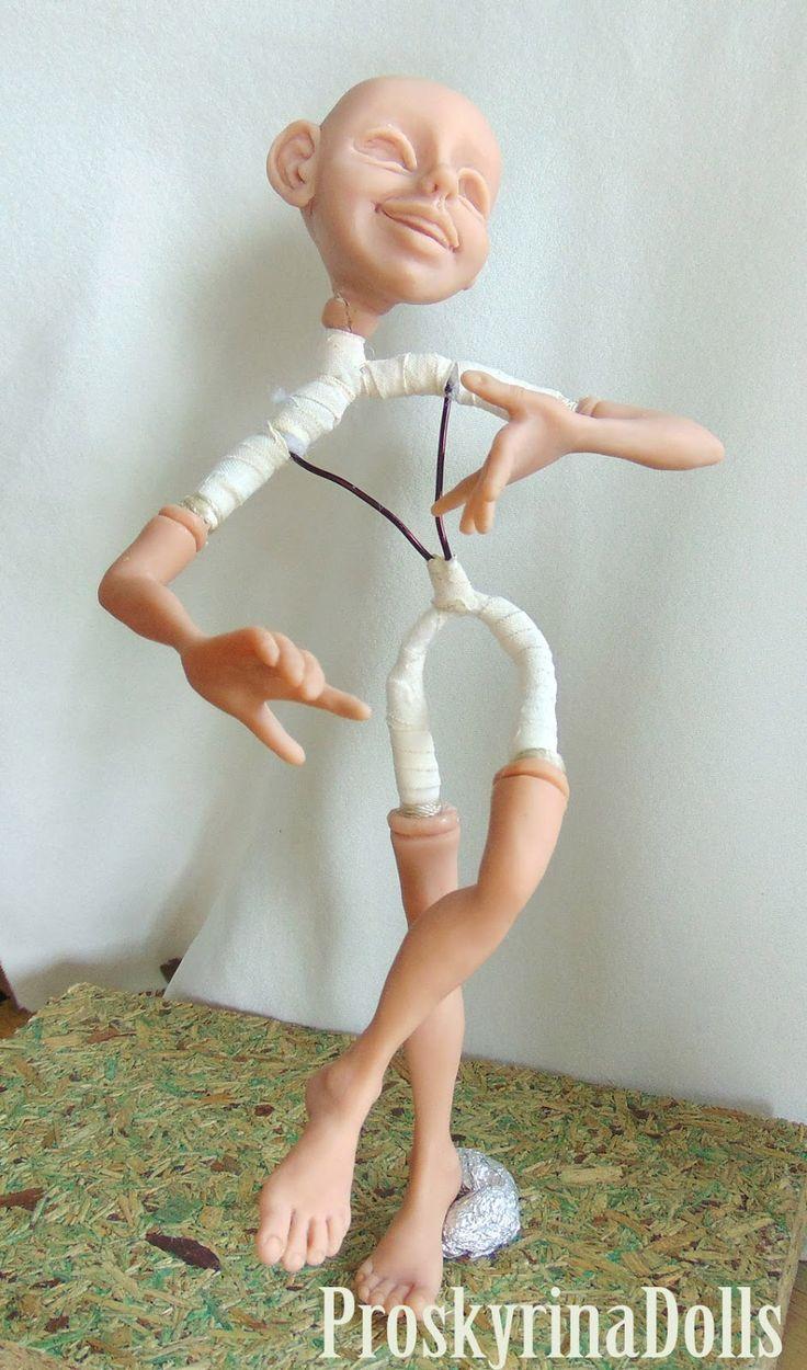 Обыкновенное чудо: Проволочной каркас для куклы из полимерной глины. ...