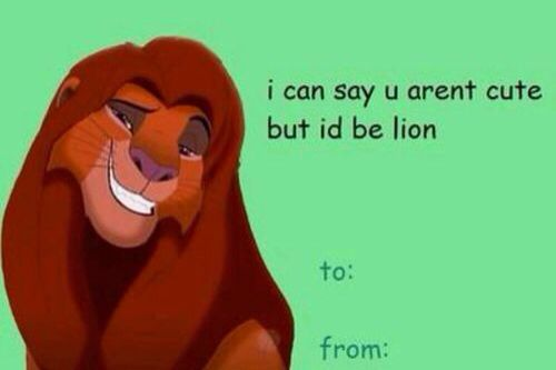 17 Jokes Only True Fans Of The Lion King Will Appreciate – Corny Valentines Card