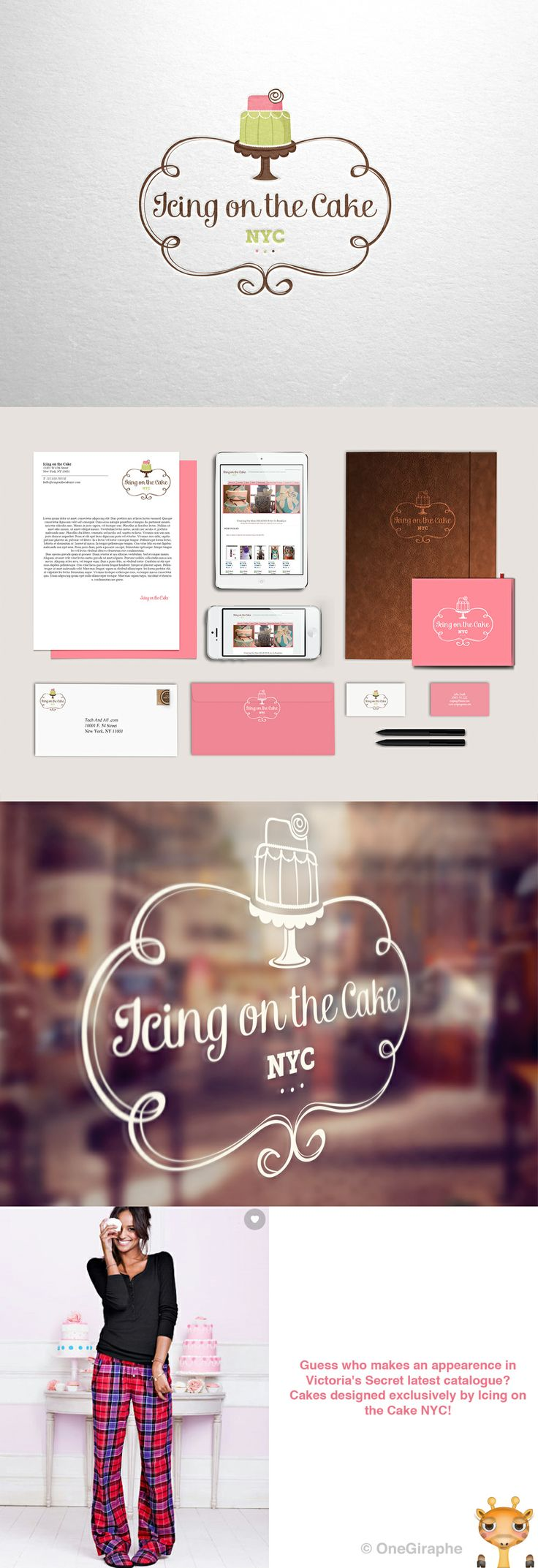 #logo #portfolio #design #graphic #graphicdesign #designer #cute #cake #stand #cupcake #pink #behance #logopond #brandstack #bestdesigner