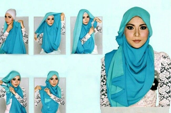 17 Best images about Hijab Tutorials on Pinterest | Simple